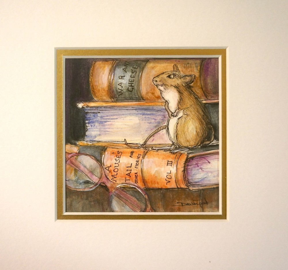 Mouse Tales, mixed media (sold)