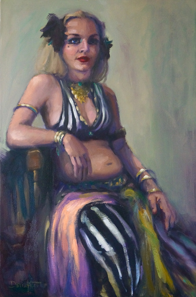 """Burlesque"" oil on canvas"