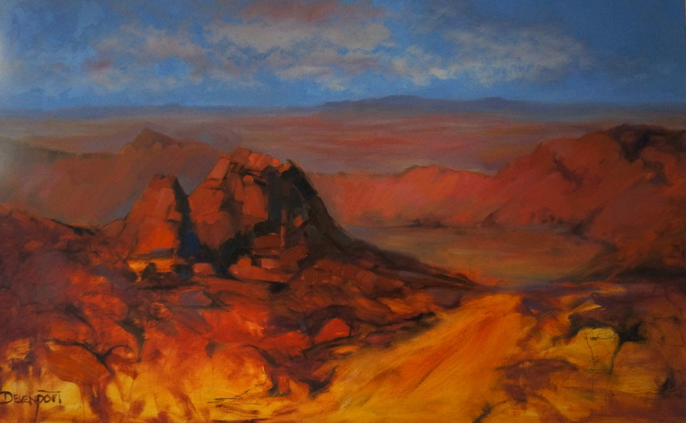 Arkaroola, oil on canvas, 2.5' x 4' (sold)