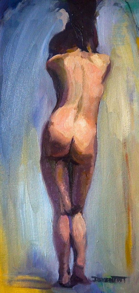 Curtain Call, oil (sold)