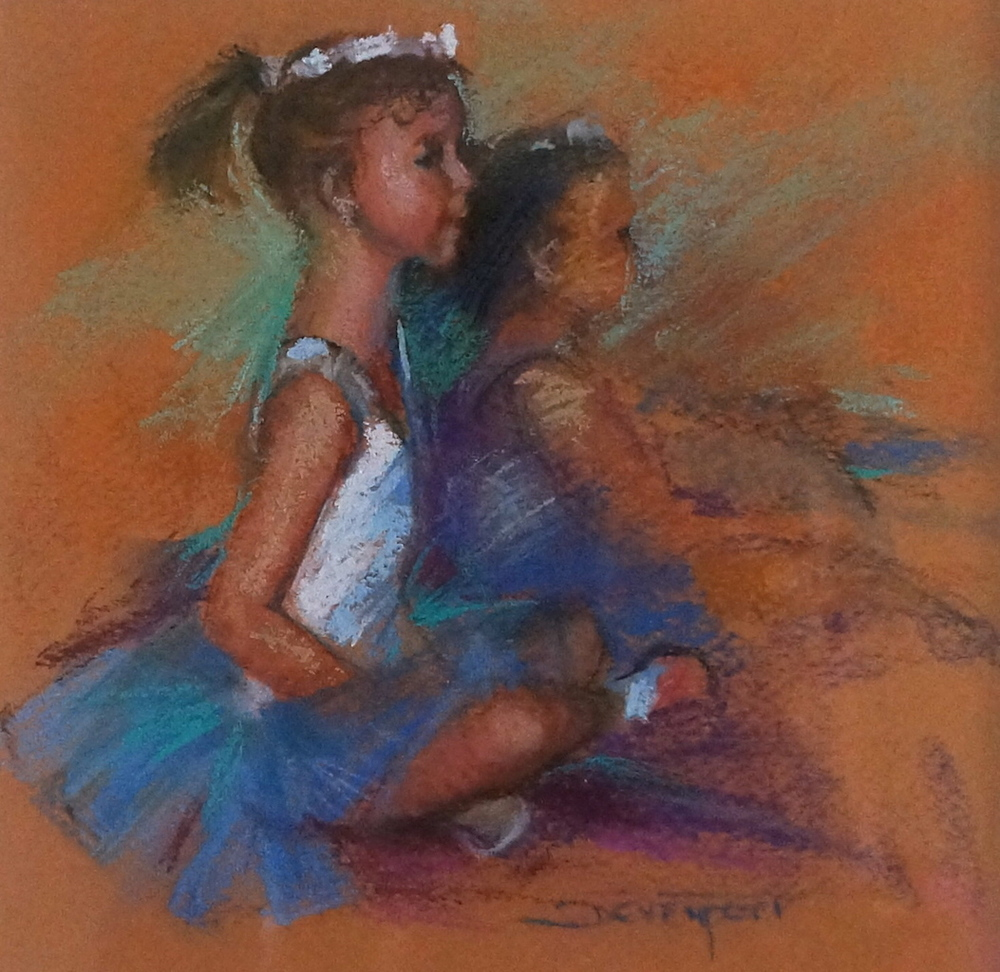 Little Ballerina, pastel