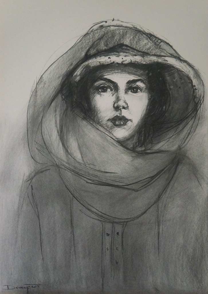 Georgina, charcoal on paper