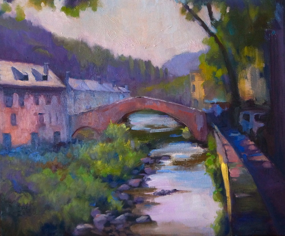 Pont de Montvert, oil on canvas