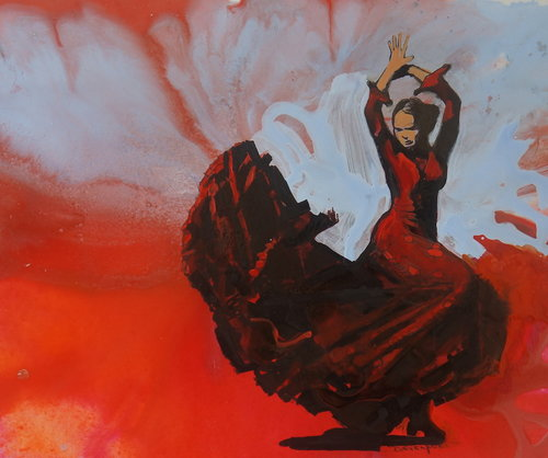 Flamenco (Acrylic & Ink)