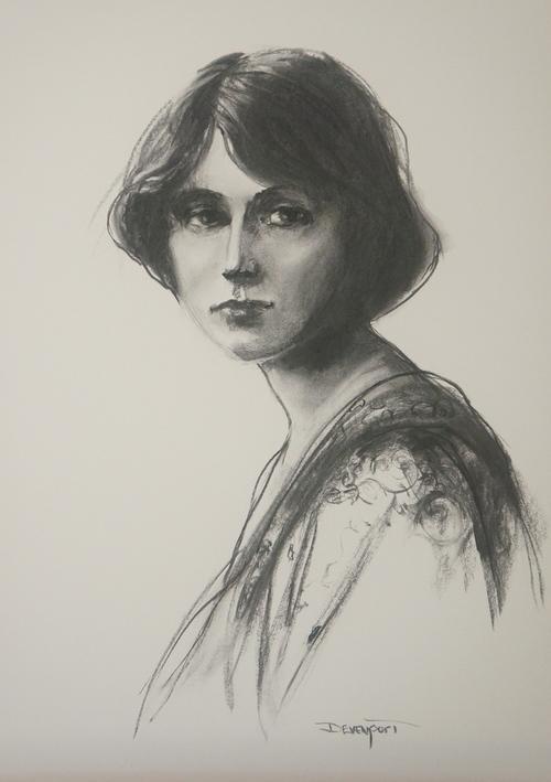 Emma, charcoal