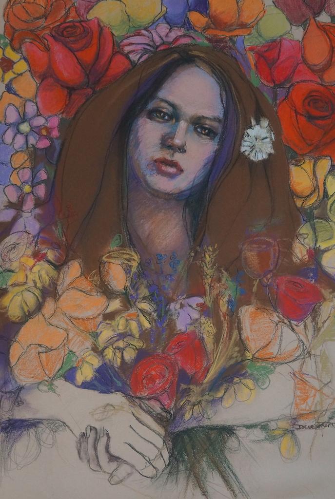 """""""Beginnings"""", pastel on paper"""