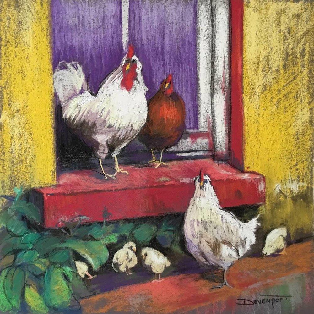 Pecking Toms, pastel