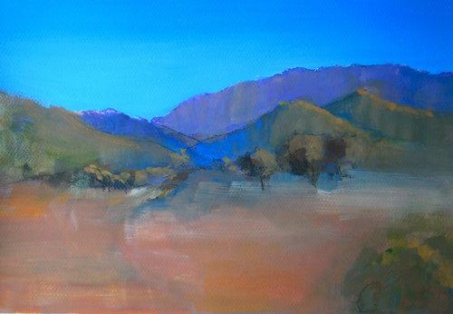 Enroute Flinders (gouache)