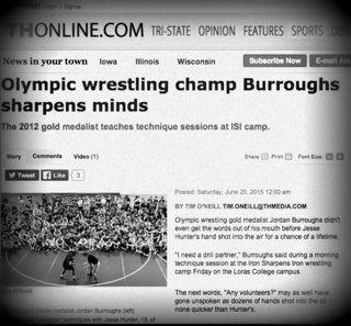 Jordan Burroughs visited the wrestlers at Iron Sharpens Iron. Click the image to see what he had to say.