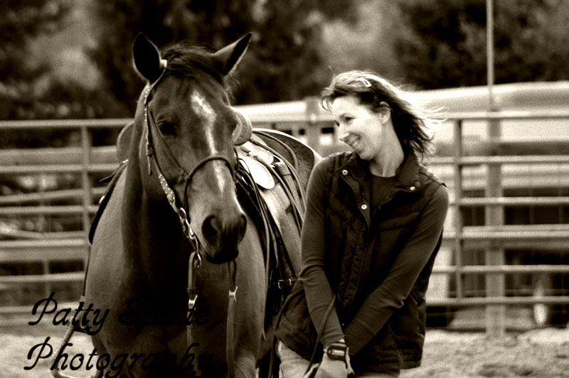 The beautiful bond between horse and rider. Trina Widmer and her bay AQHA 1D barrel horse Poco Pony.