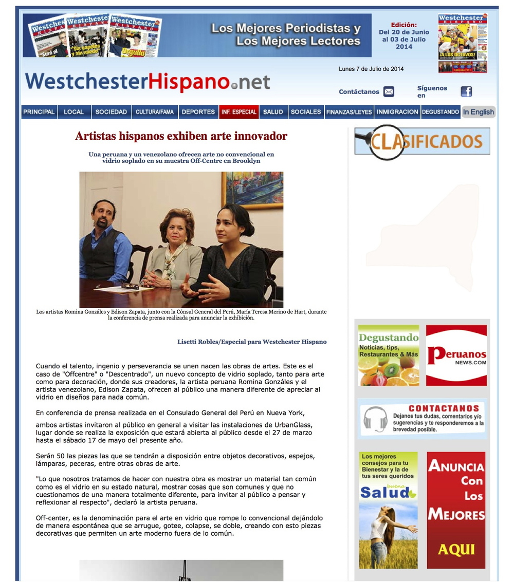 Westchester Hispano - Artistas hispanos exhiben arte innovador 1.jpg