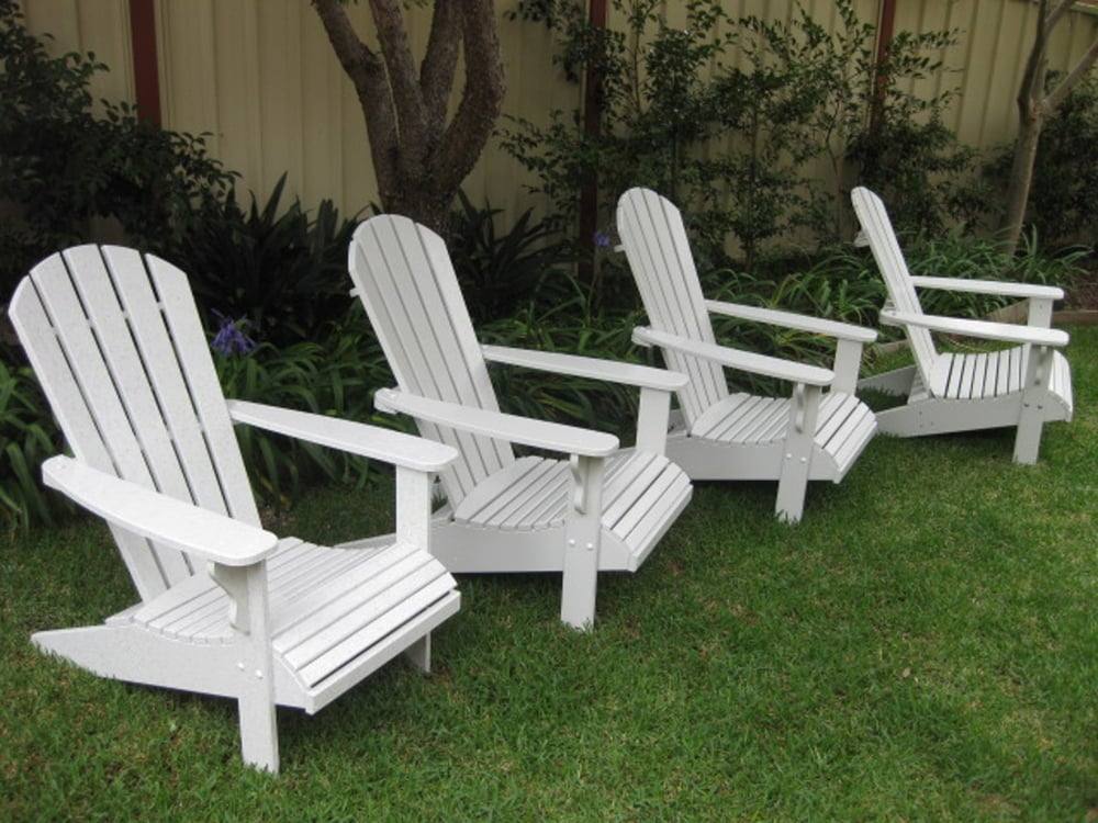 Three Adirondack chairs or more