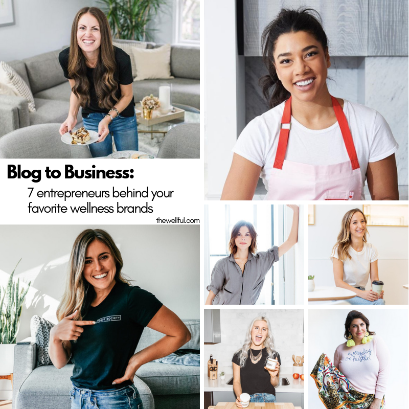names linked with photo credit from left to right, top to bottom:  Rachel Mansfield  ( Pura Soul Photo )  Hannah Bronfman ,  Rachael Devaux ,  Emily Weiss ,  Lily Kunin ,  Ali Bonar ,  Katie Sturino