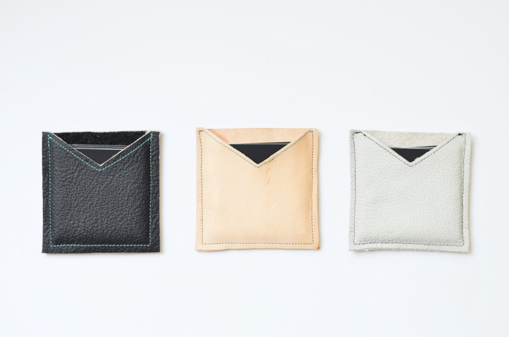 Leather square business card case, square card case, moo card ...