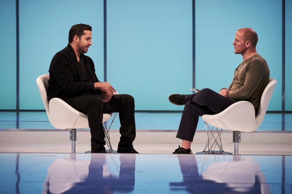 Tim Ferriss and David Blaine / AT&T AUDIENCE Network
