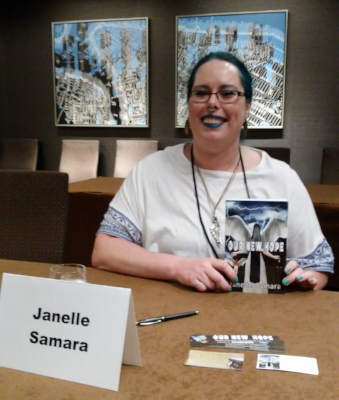 At the book signing after my panel.