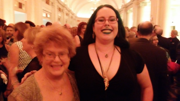 Charlaine Harris isn't actually this blurry in real life. It's just my crappy camera.