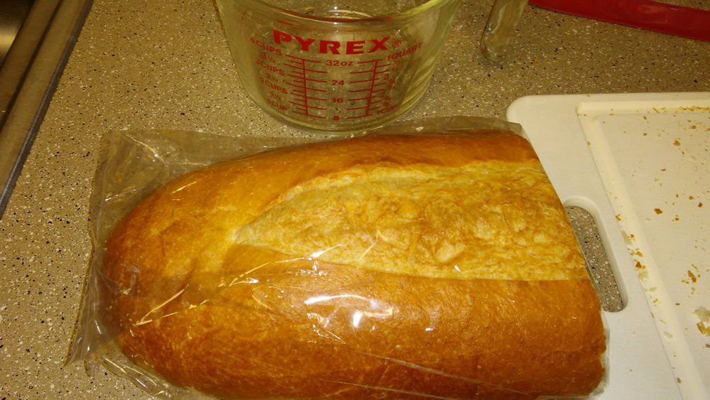 Half-loaf of Italian bread