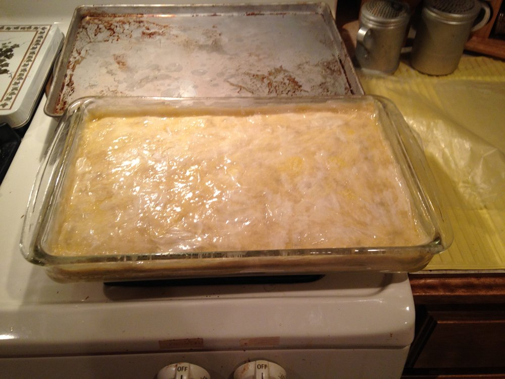 Baklava before scoring