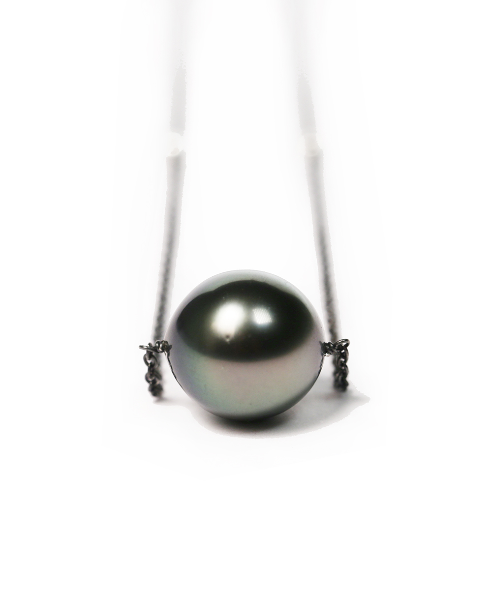 silver im floating filled gold products cultured keepsakes necklace pearl freshwater black