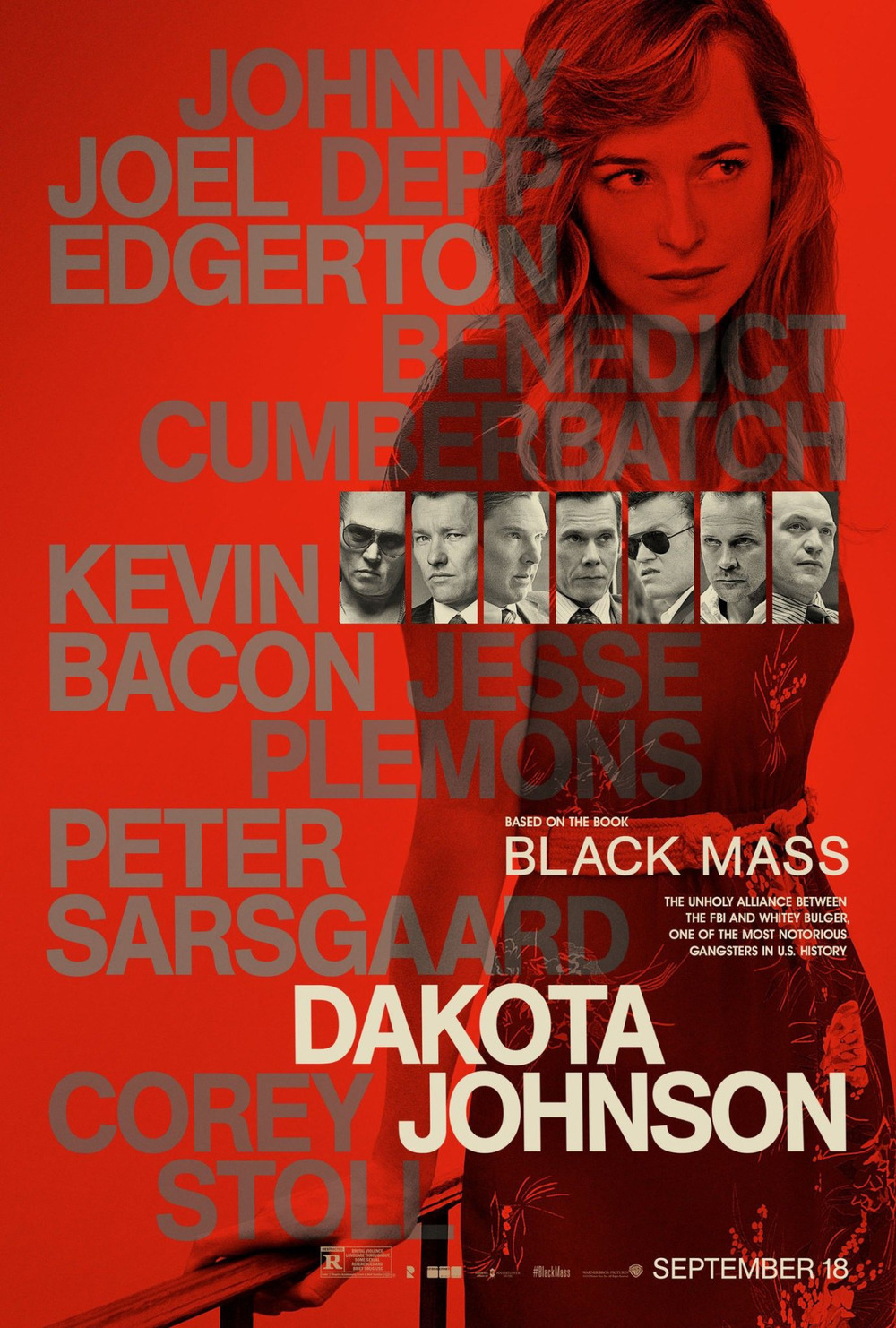 Black mass poster 2 Dakota Johnson