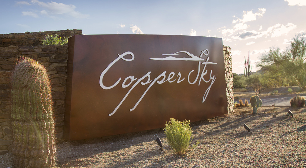 CopperSky sign for Thinking Caps Design