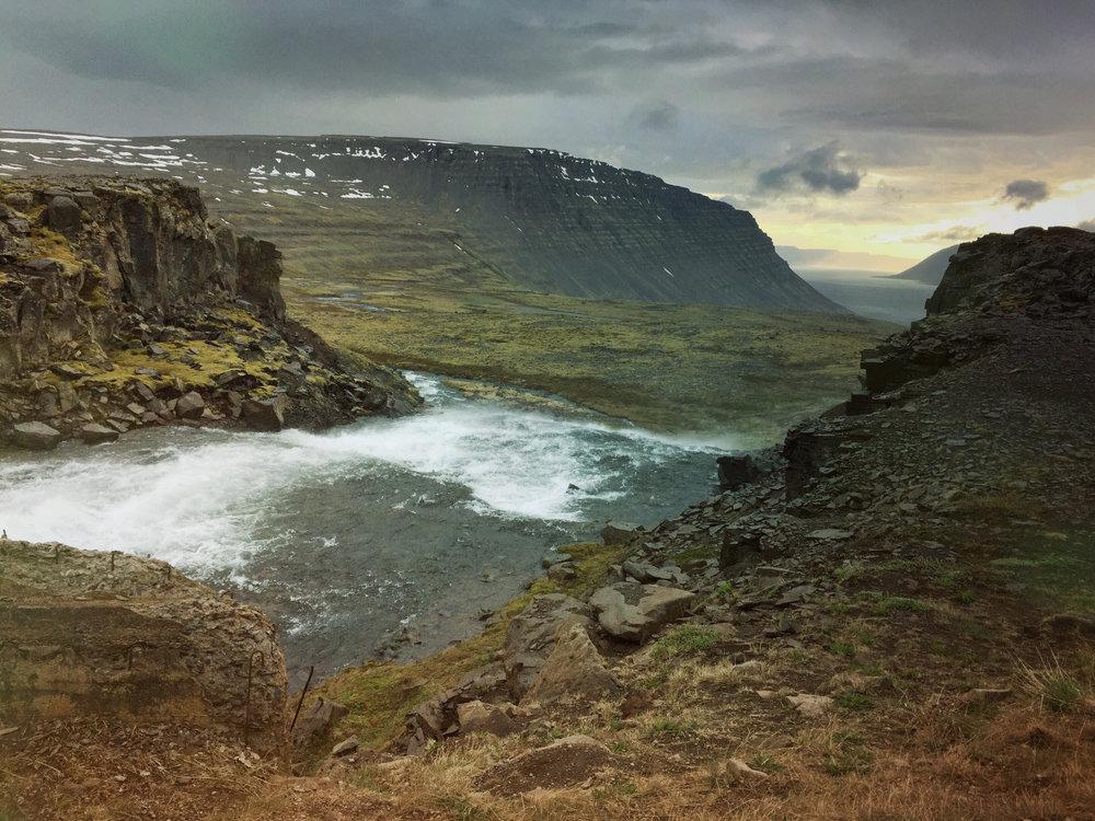 dynjandi waterfall - westfjords, iceland