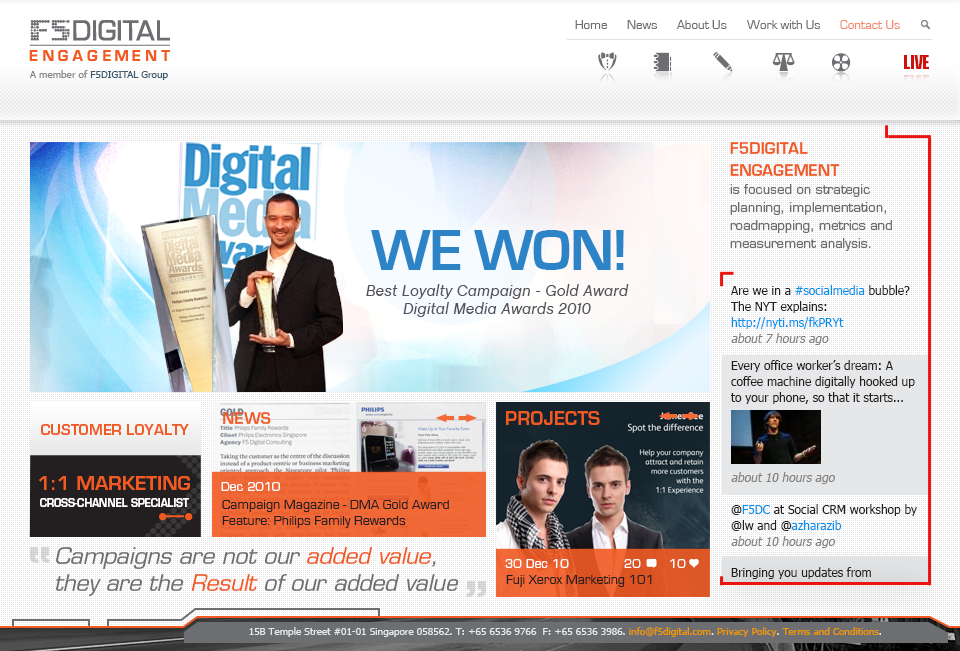 F5Digital Project Screenshot - Singapore Freelance Web Design & Development