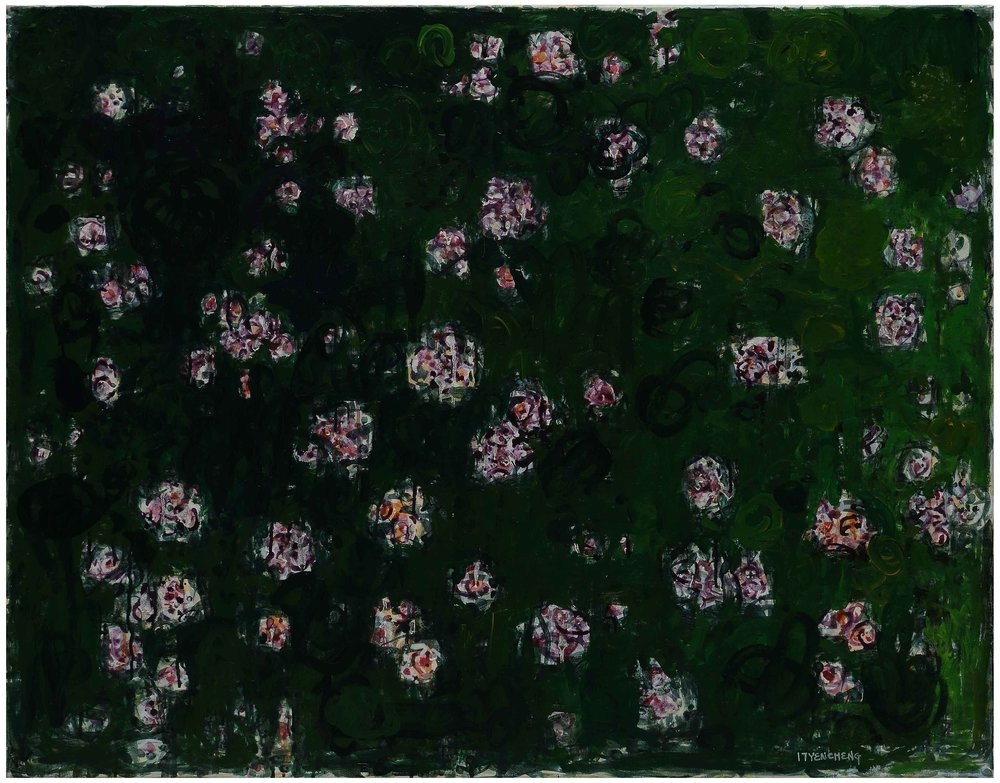 微風花草---1720 flowers in breeze---1720  壓克力彩 畫布 acrylic on canvas  91x116cm  2017.jpg