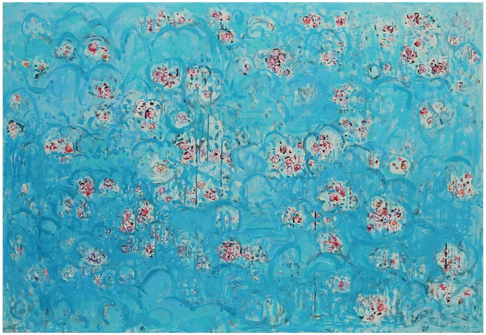 微風花草---1620 flowers in breeze---1620  壓克力彩 畫布 acrylic on canvas  80x116cm  2016.jpg