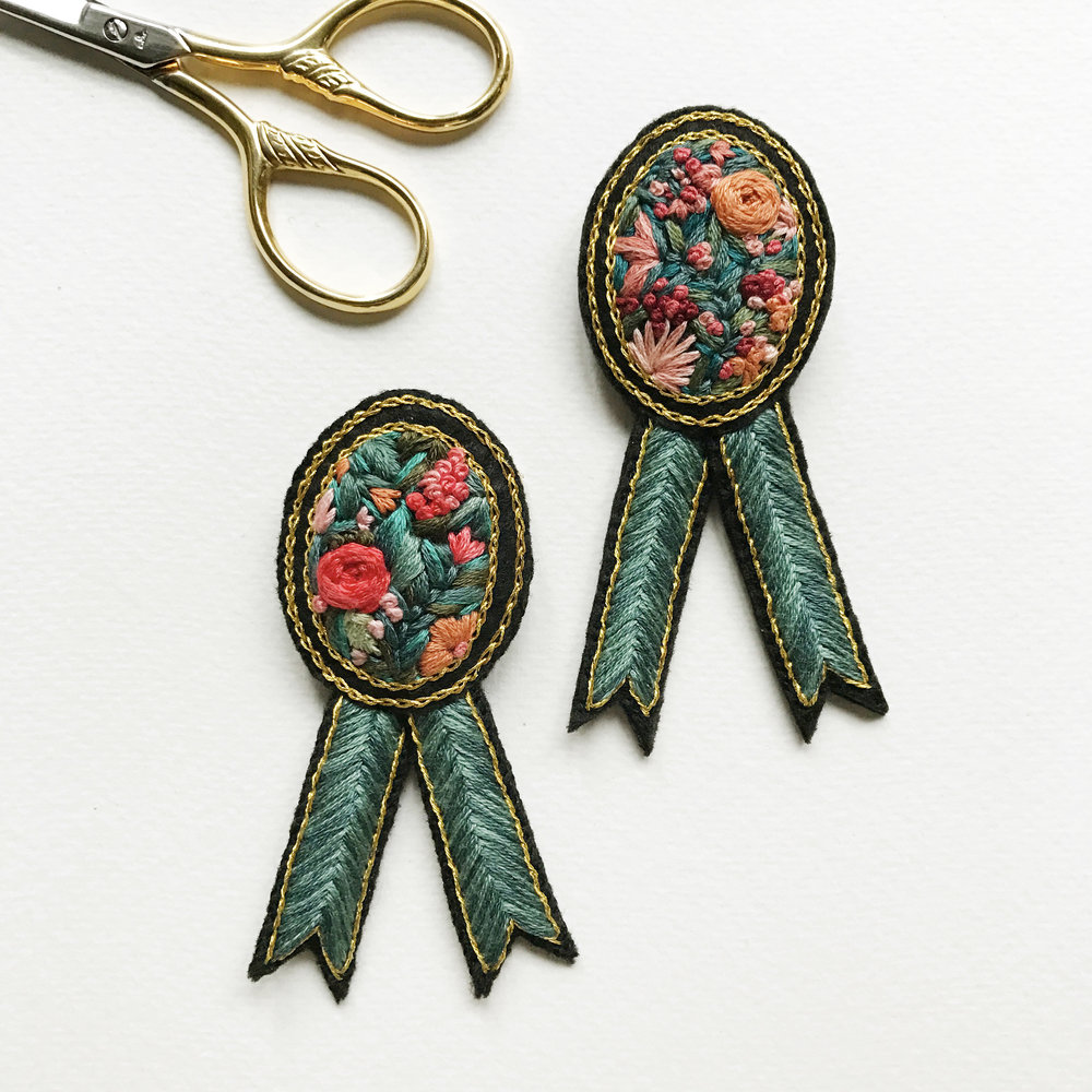 Floral medal badge together.jpg