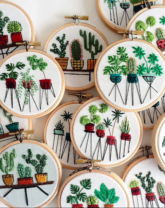 Mini Botanical Embroidery Workshop//Albany, NY — Sarah K