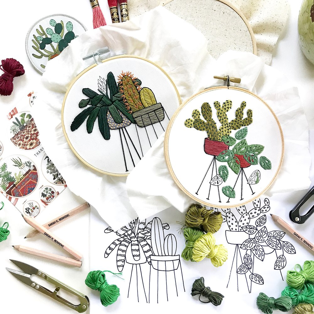 March 30, 12 - 4 pm,NHIA Sharon Campus (Sharon, NH) - Please join me for an afternoon of Botanical Drawing for Contemporary Embroidery!I will be bringing along some of my favorite plants for participants to draw inspiration from for their one of a kind personal embroidery patterns.All embroidery materials will be included, though participants are encouraged to bring their own sketch books and any preferred drawing materials. No experience is necessary.