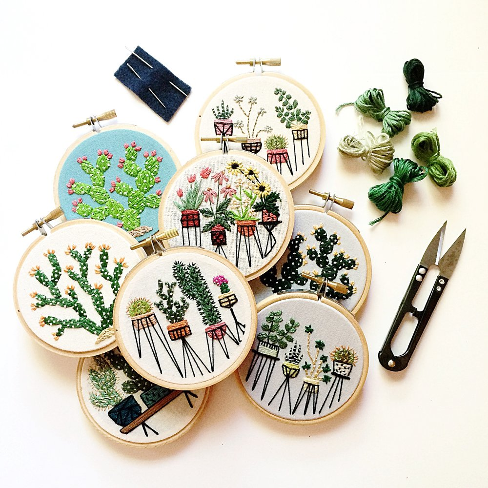 April 6, 6 - 8 pm, Chicago - Please join me for an evening of embroidery at one of my favorite places in Chicago! Participants and I will stitch up some mini botanical embroideries. I will share all of my best and favorite tips and tricks, walking participants through the embroidery process from start to finish.There is absolutely no embroidery experience necessary! All you need is a little patience and enthusiasm for making.All materials will be provided!