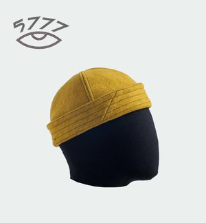 eb0f09d7921 4P miki hat in poison yellow wool felt