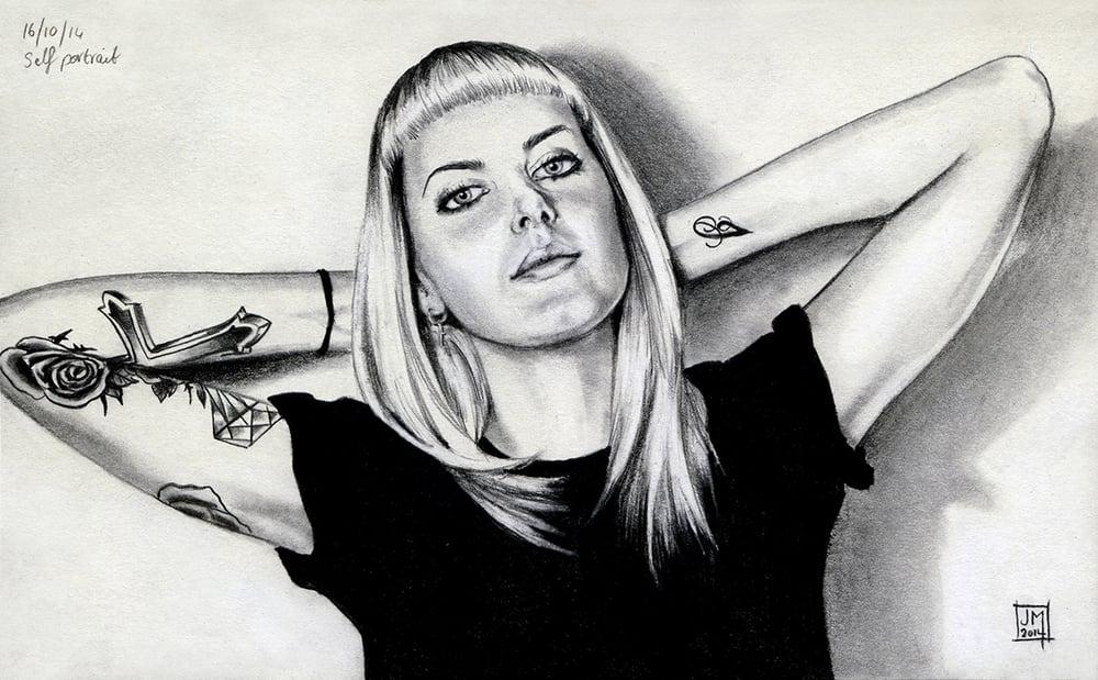 Self Portrait, 2014. Pencil on paper