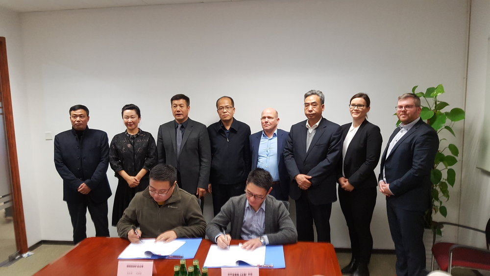Letter of intent signing - In November 2017 a signing of a letter of intent for further cooperation with Hami Runda Jianeng Power Generation Company. took place.Auxilliary hydrogen supply can be utilized to produce methanol if a feedstock of CO2 is present as well.CRI Jixin strives to locate such opportunities and present a case for utilization,  which serves the ultimate goal of CO2 reduction and subsequently, a cleaner future.