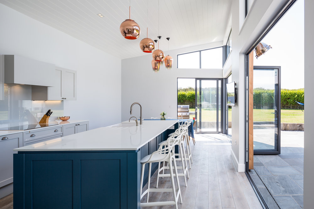 Bright and spacious kitchen opening onto rear garden