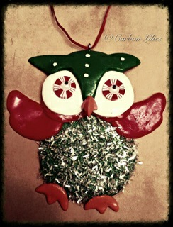 A Carbon Family ornament... an owl flying high - say no to drugs kids