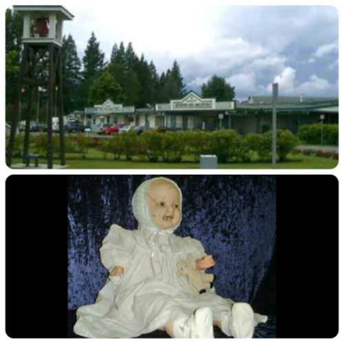 Mandy the Haunted Doll from the Quesnel Museum, Quesnel, BC