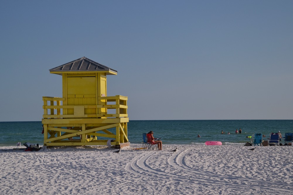 Siesta Key, Sarasota- one of the world's finest beaches, made of white sugar sand.
