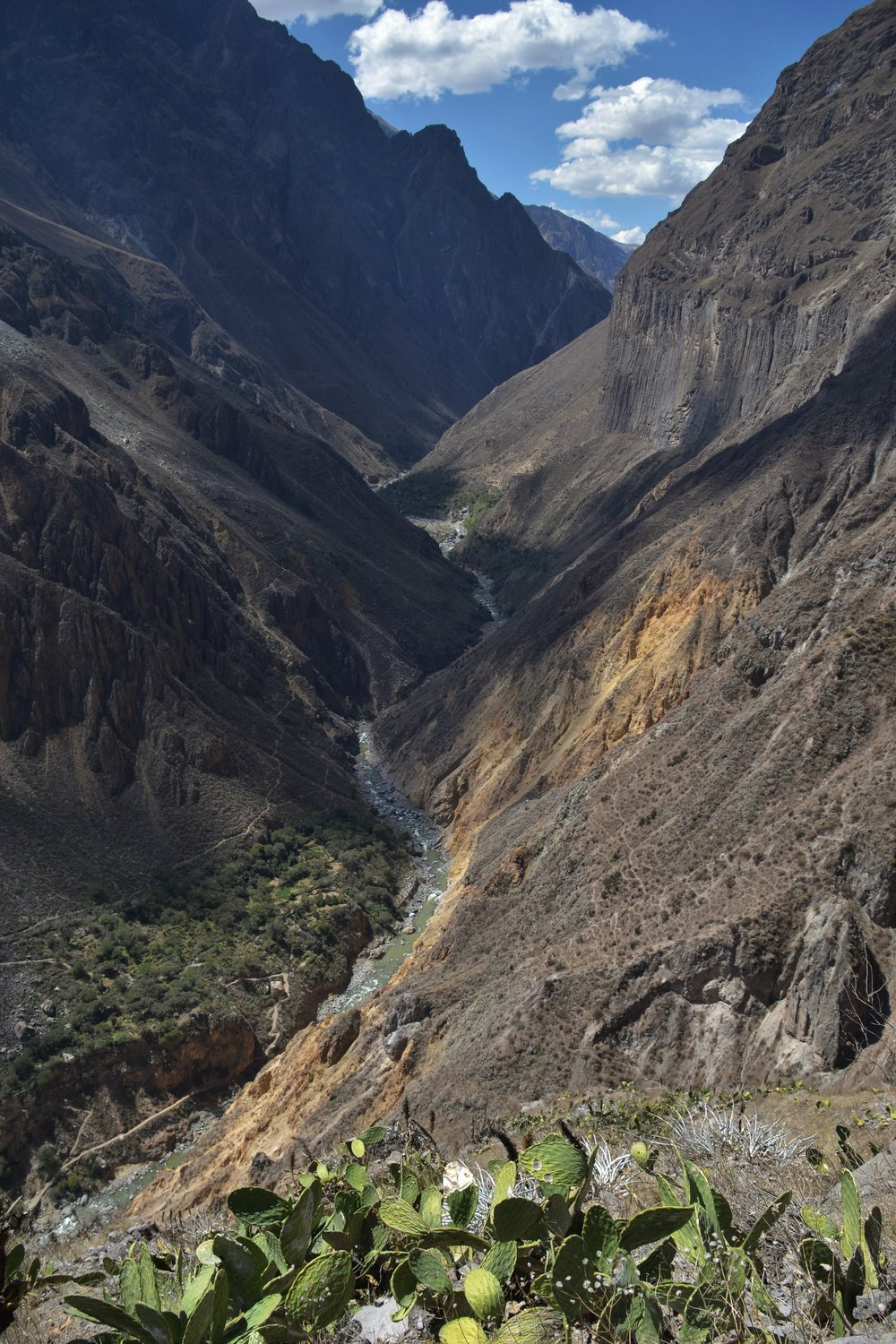 The Colca Canyon.