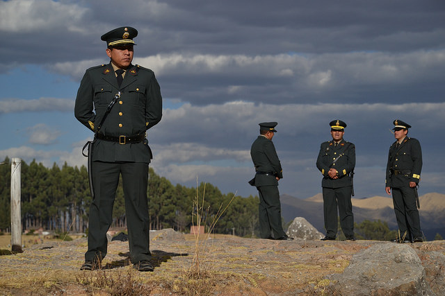 Peruvian military men