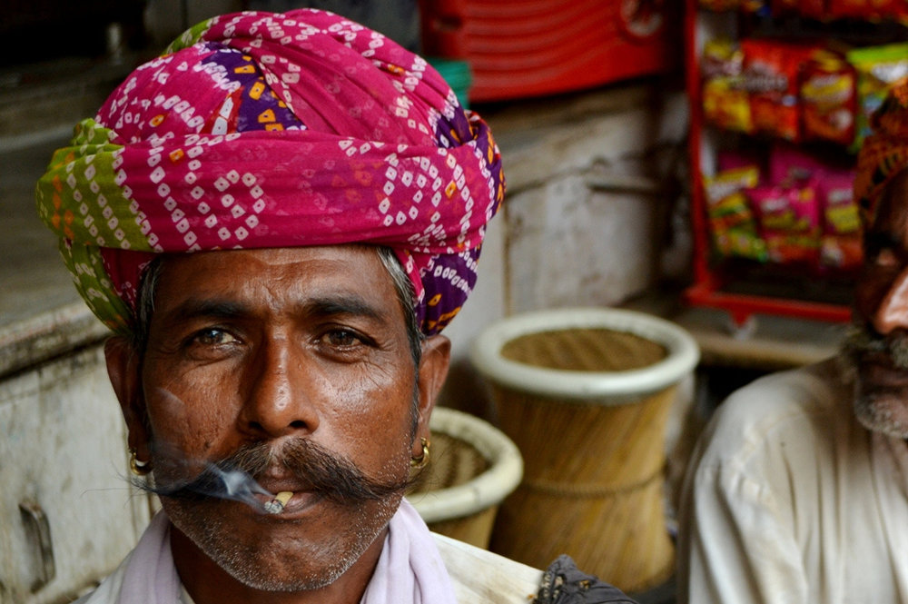 A Smoking Indian