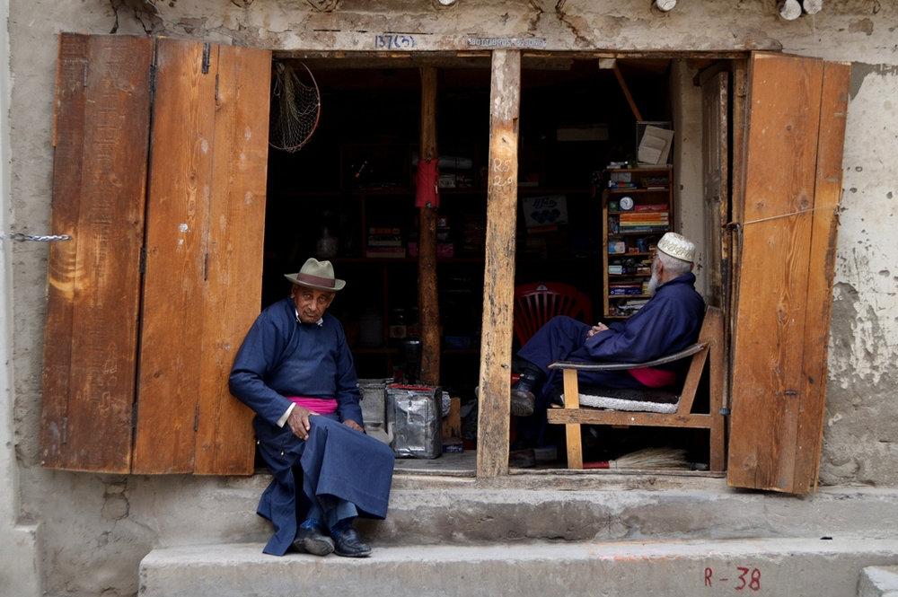 Tibetan shopkeepers, India