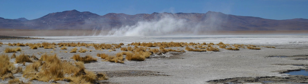 A swirling dust devil