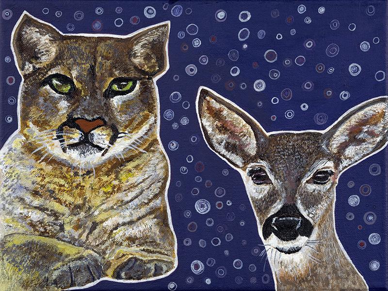 Cougar & Deer