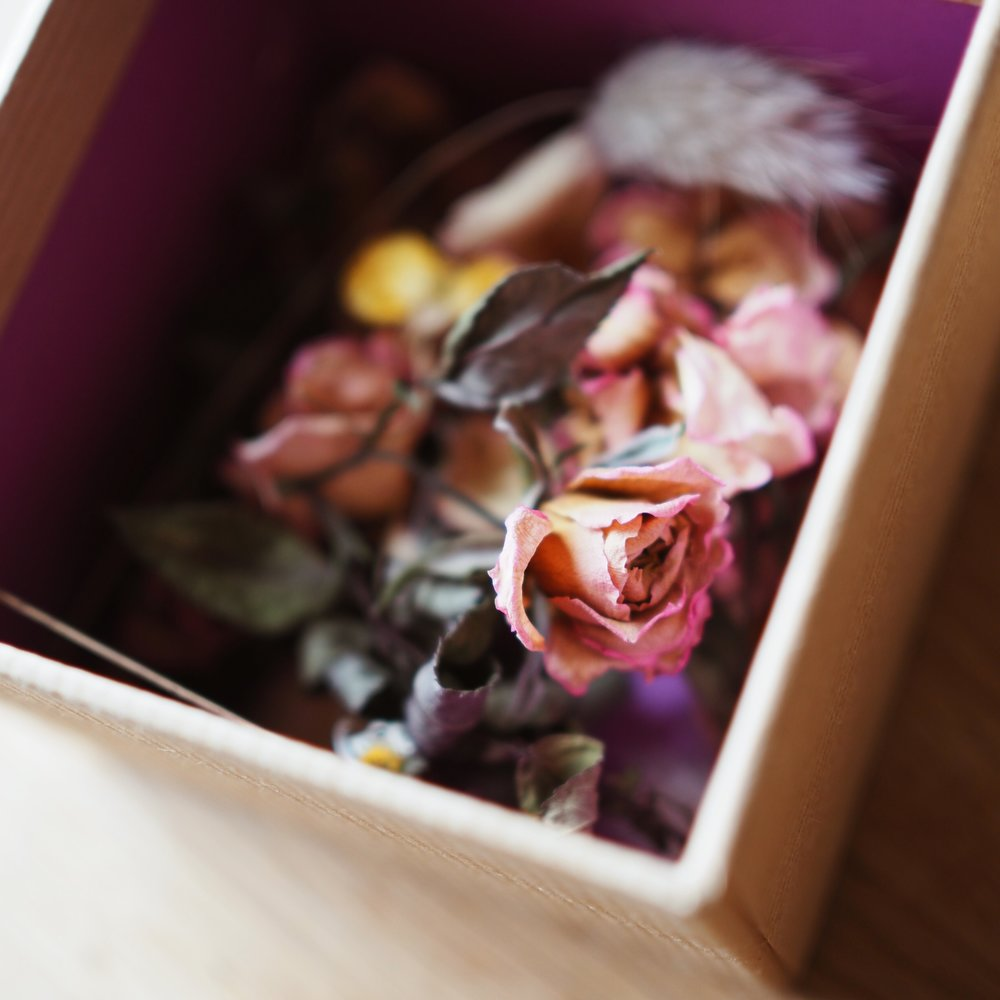 My little box of faded flowers