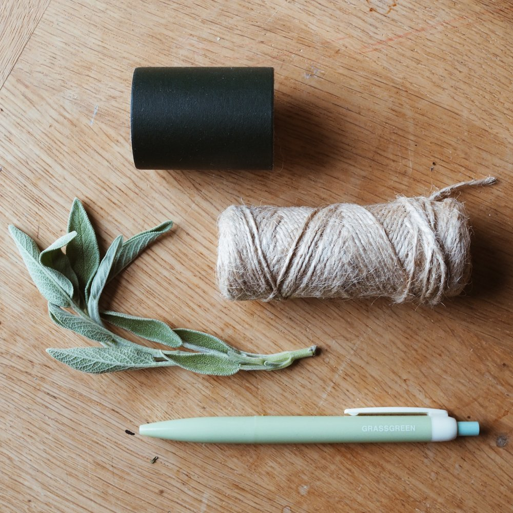 Herbs and stationery