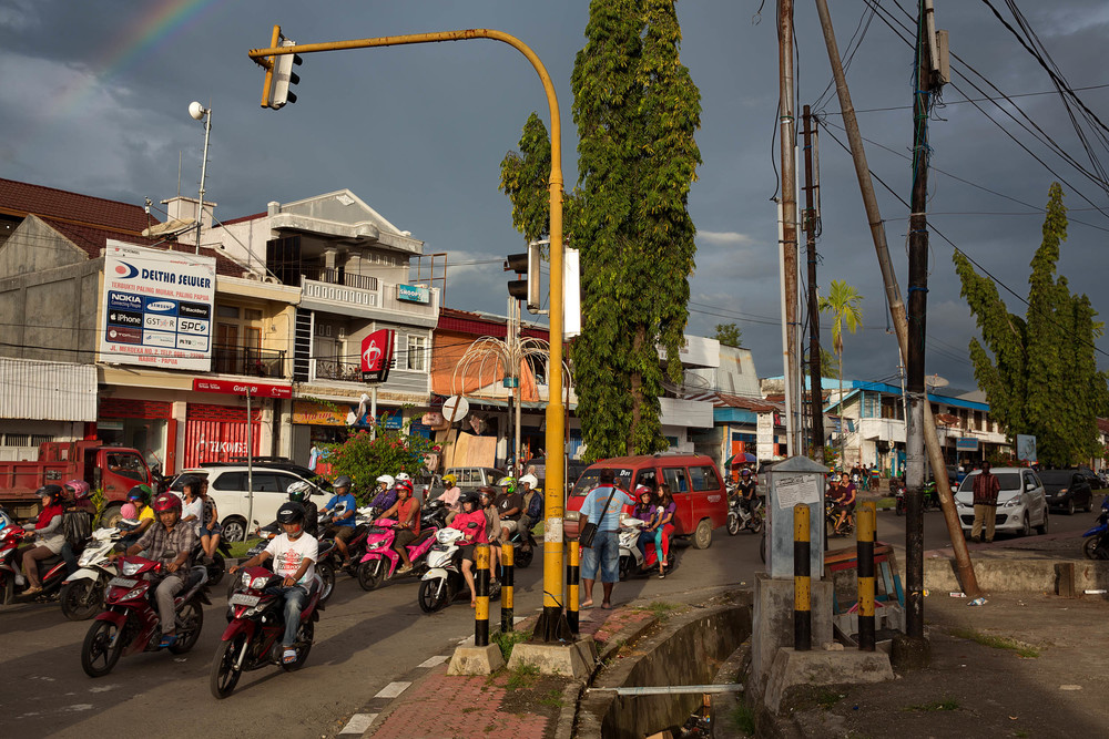 Nabire's congested streets are far removed from the isolated Papuan villages of the interior.